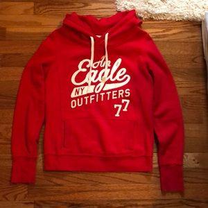 American Eagle red hoodie